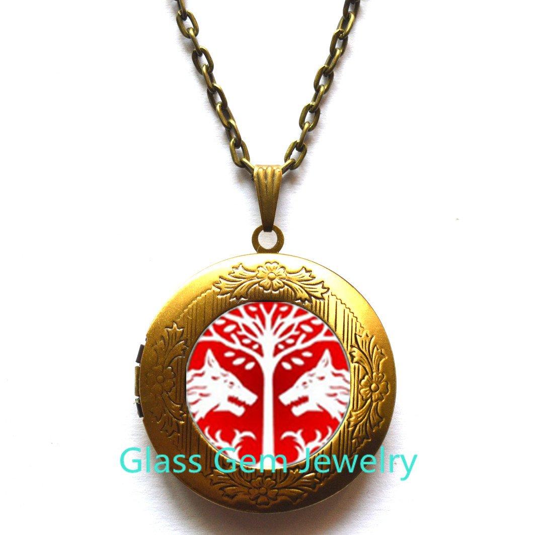 Glass Tile Locket Necklace Wolf Locket Necklace Glass Tile Jewelry Animal Jewelry Wolf Jewelry Silver Locket Necklace Silver Jewelry,Q0250