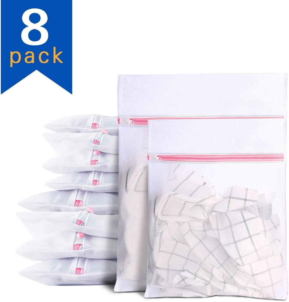 """Umikk Mesh Laundry Bags, 8 Packs Mesh Wash Bags, 4 Extra Large (24"""" x 20"""") & 4 Large (20"""" x 16"""")"""