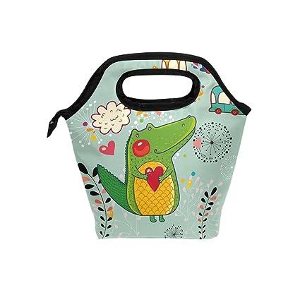 d523477d2978 Amazon.com: SAVSV Neoprene Lunch Tote Bag-Lightweight, Cartoon Hand ...