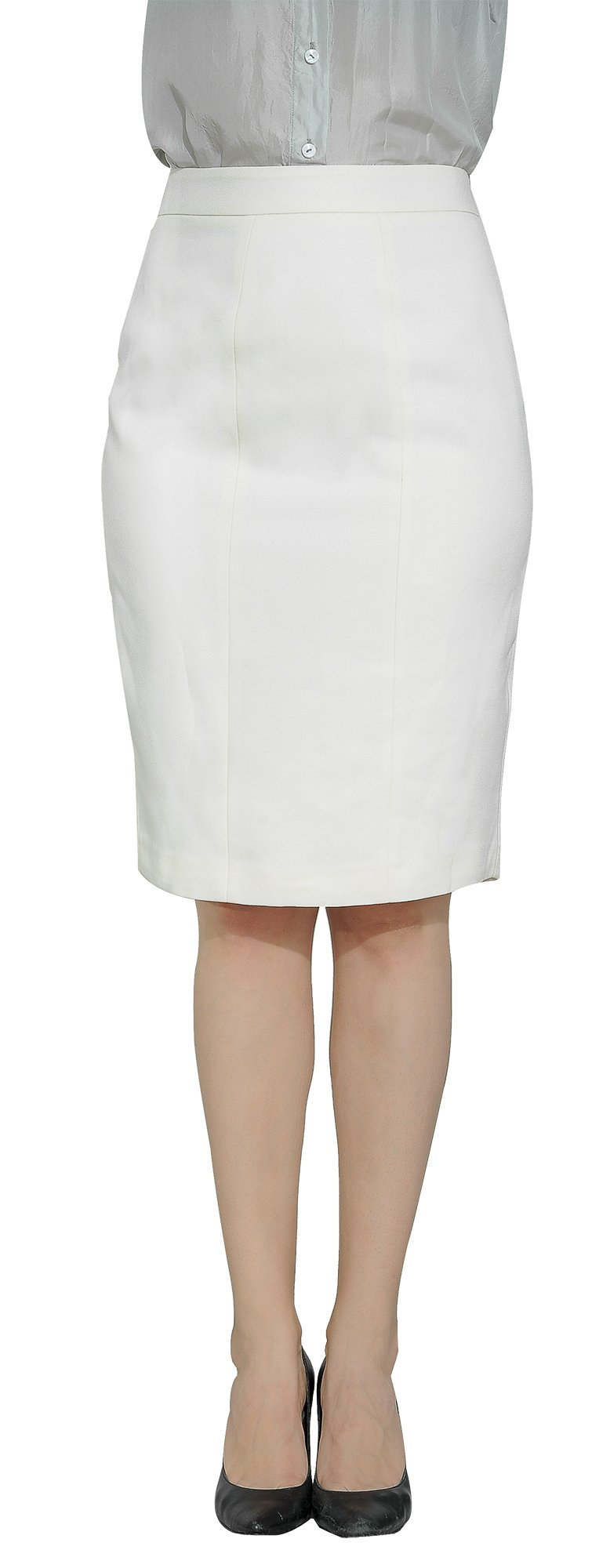 Marycrafts Women's Lined Pencil Skirt 4 Work Business Office 10 Beige by Marycrafts (Image #4)