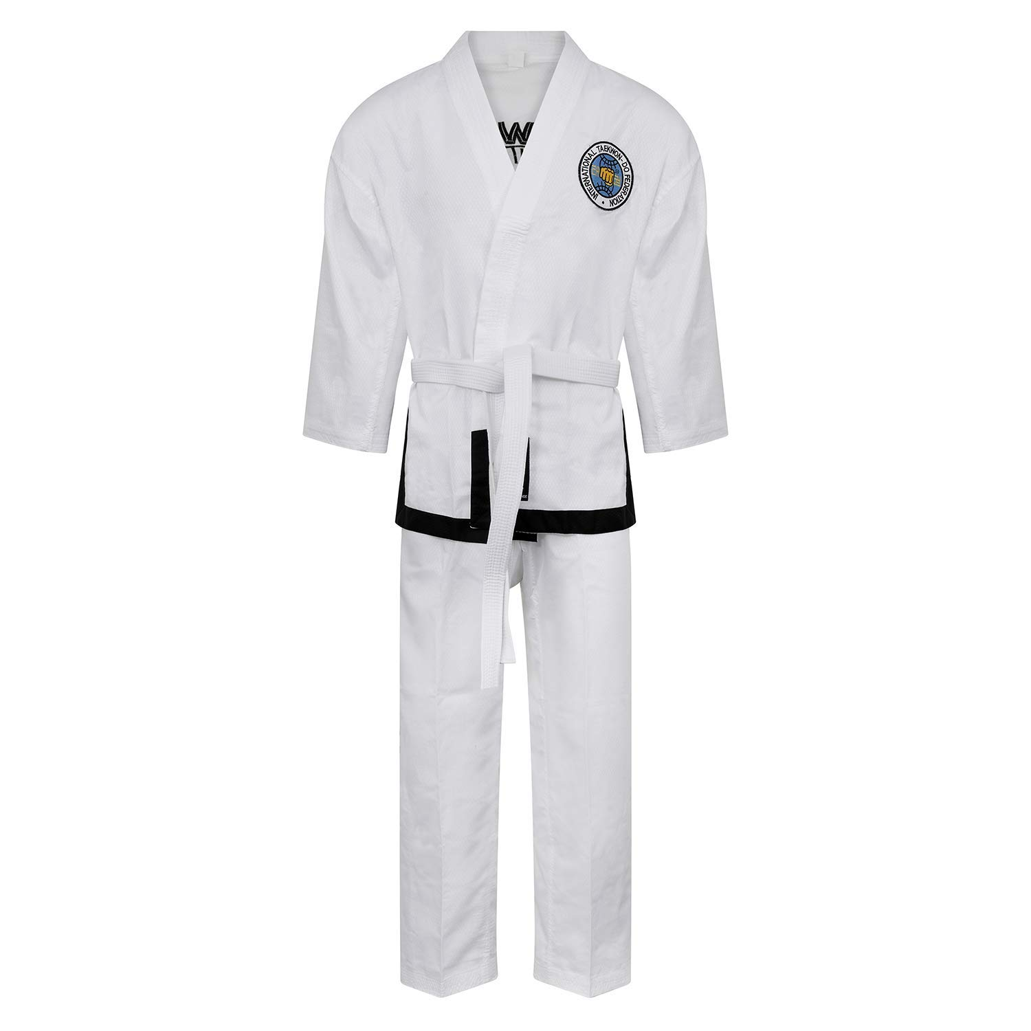 Martial Arts Elite Ultra Light ITF Taekwondo Black Belt Fighter Suit (160cm) by Playwell
