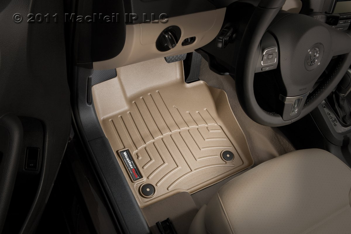 Tan WeatherTech Front FloorLiner for Select Kia Optima 2011-2014 Hyundai Sonata 2011-2013 452961