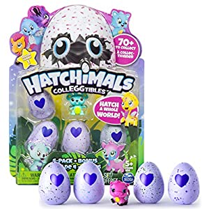 Hatchimals - CollEGGtibles - 4-Pack + Bonus (Styles & Colors May Vary) by Spin Master from Spin Master