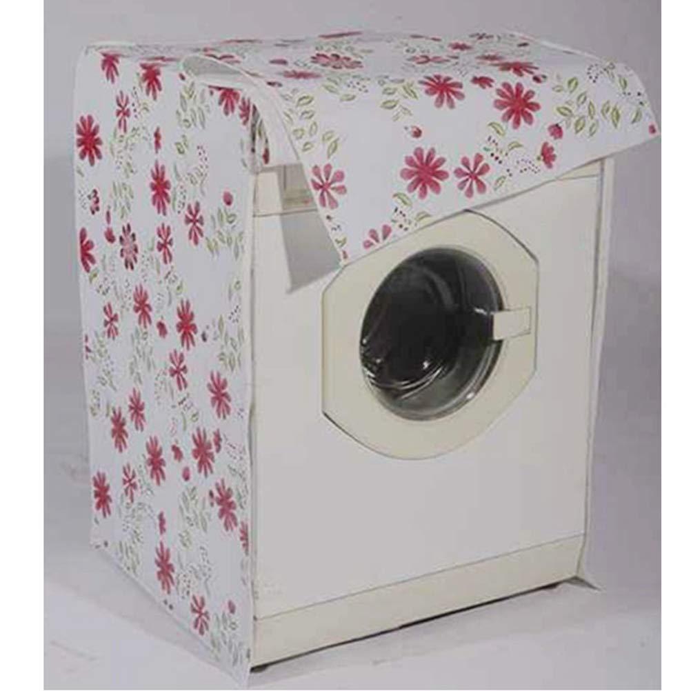 Wasserdicht Frontlader f/ür Waschmaschine 56 x 60 x 82 cm Motiv Rote Blume Vosarea Schutzbezug f/ür Waschmaschine