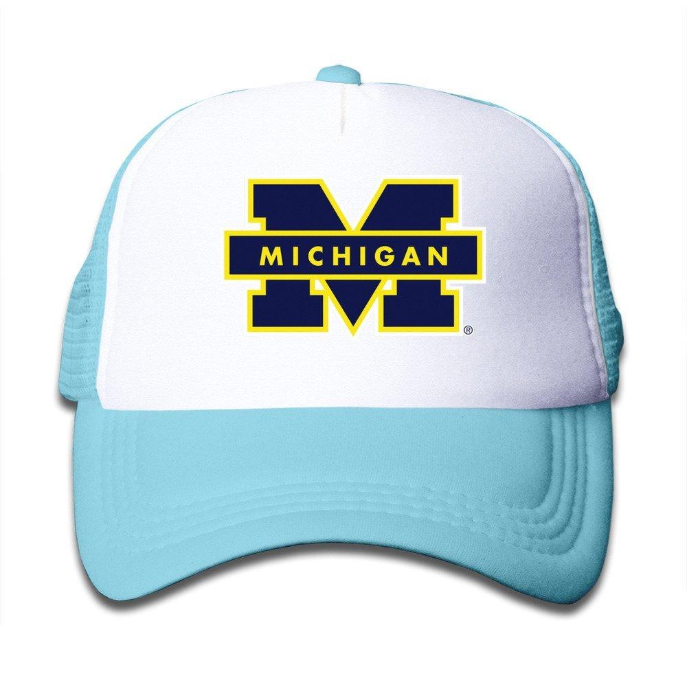 Funny Michigan Wolverines Kids Baseball Mesh Caps Hat Boys Girls ...