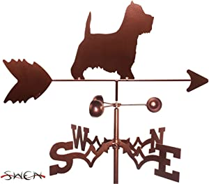 SWEN Products Hand Made Westie Terrier Dog Garden Stake Weathervane ~New~