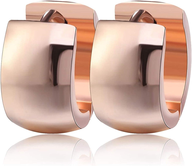 Daawqee Pendientes Para Mujer, 316L Stainless Steel Ear Stud Earrings Fashion Women Men's 7Mm Wide Punk Style Small Earrings Jewelry IE18
