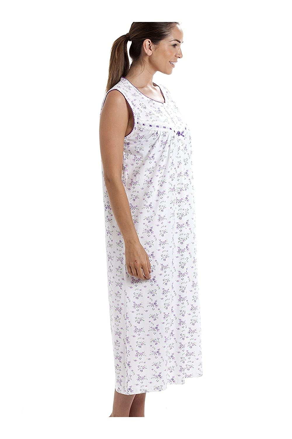 Suzy and Me Sleeveless 100/% Cotton Butterfly Print Nightdress Pink or Aqua.