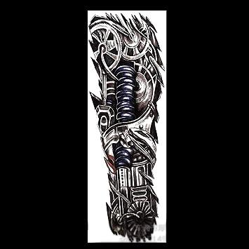 Tatuajes temporales de tatuaje de brazo completo de color negro, adhesivos para el cuerpo, adhesivos falsos para hombres, mujeres (4 hojas): Amazon.es: ...