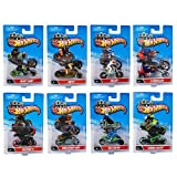 bks HOT WHEELS ORIGINAL MOTO WITH RIDERS:SET OF 4 (colour may vary)
