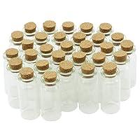 COM-FOUR® Mini Glasfläschchen mit Korkverschluss, für Öle oder Gewürze