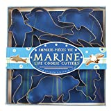Fox Run 3655 Marine Life Cookie Cutter Set, Stainless Steel, 7-Piece