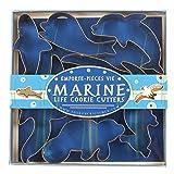 Fox Run 3655 Marine Life Cookie Cutter Set, Stainless Steel, 7-Piece
