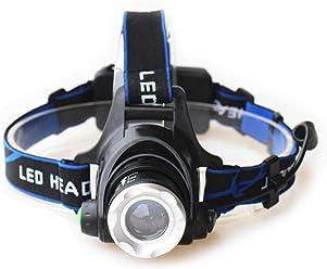 EEG Lighting T6 LED Headlight for Camping, Running, Hiking, Reading, 3 Modes