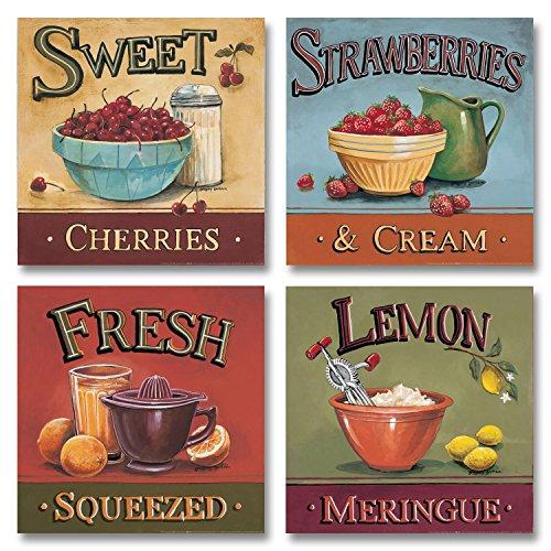 Vintage Cherries Meringue Squeezed Strawberries product image