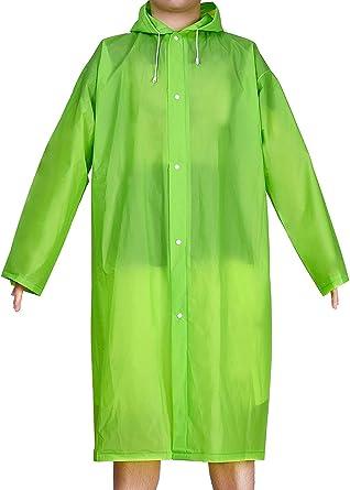EVA Raincoat Waterproof Rain Poncho Reusable Unisex Men Women Long Clear Rain Wear