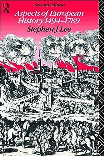 aspects of european history 1494 1789 lee stephen j