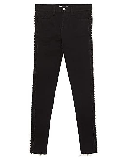 1127722bc1 Zara Women's Z1975 Skinny Jeans with Pearl-Bead Taping 6164/177 ...