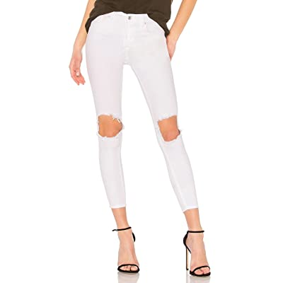 Free People Women's Busted Knee High Waist Skinny Jeans at Women's Jeans store