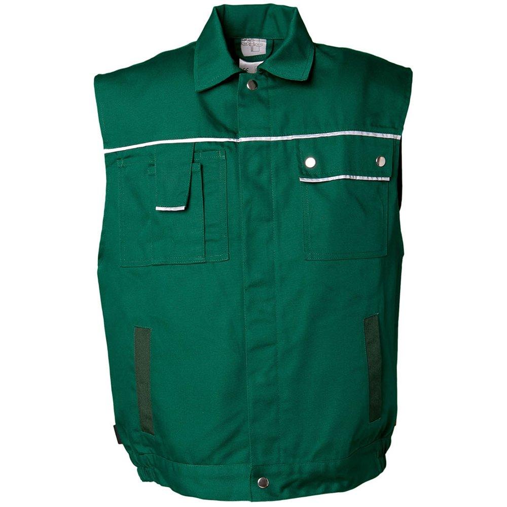 Planam 2161044 - Chaleco de tela 320, el tamaño s, verde