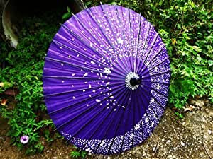 The shower of blossom purple also sum umbrella umbrella Bangasa paper thin cherry tree ogre Gintama Kagura Cosplay (japan import)