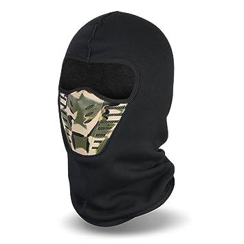 Magic Zone pasamontañas Máscara, Invierno Lana A prueba de viento Máscar para deportes al aire