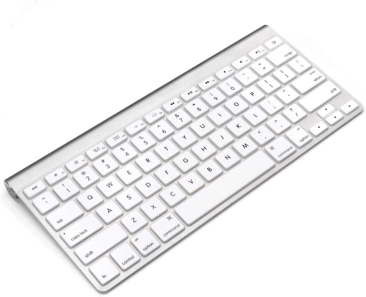 ProElife Ultra Thin Silicone Keyboard Protector Cover Skin for Apple Wireless Keyboard with Bluetooth MC184LL/B (Model: A1314, U.S Layout) (Not Fit iMac Magic Keyboard), White