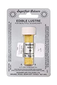Sugarflair RADIANT GOLD Edible Lustre Dust Powder - Cake decorating shimmer