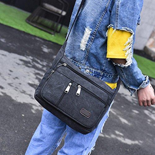 Uomini E Donne Tela Vintage Messenger Ipad Spalla Tote Lavorare Outdoor Il Sacchetto,B-30cm*11cm*23cm