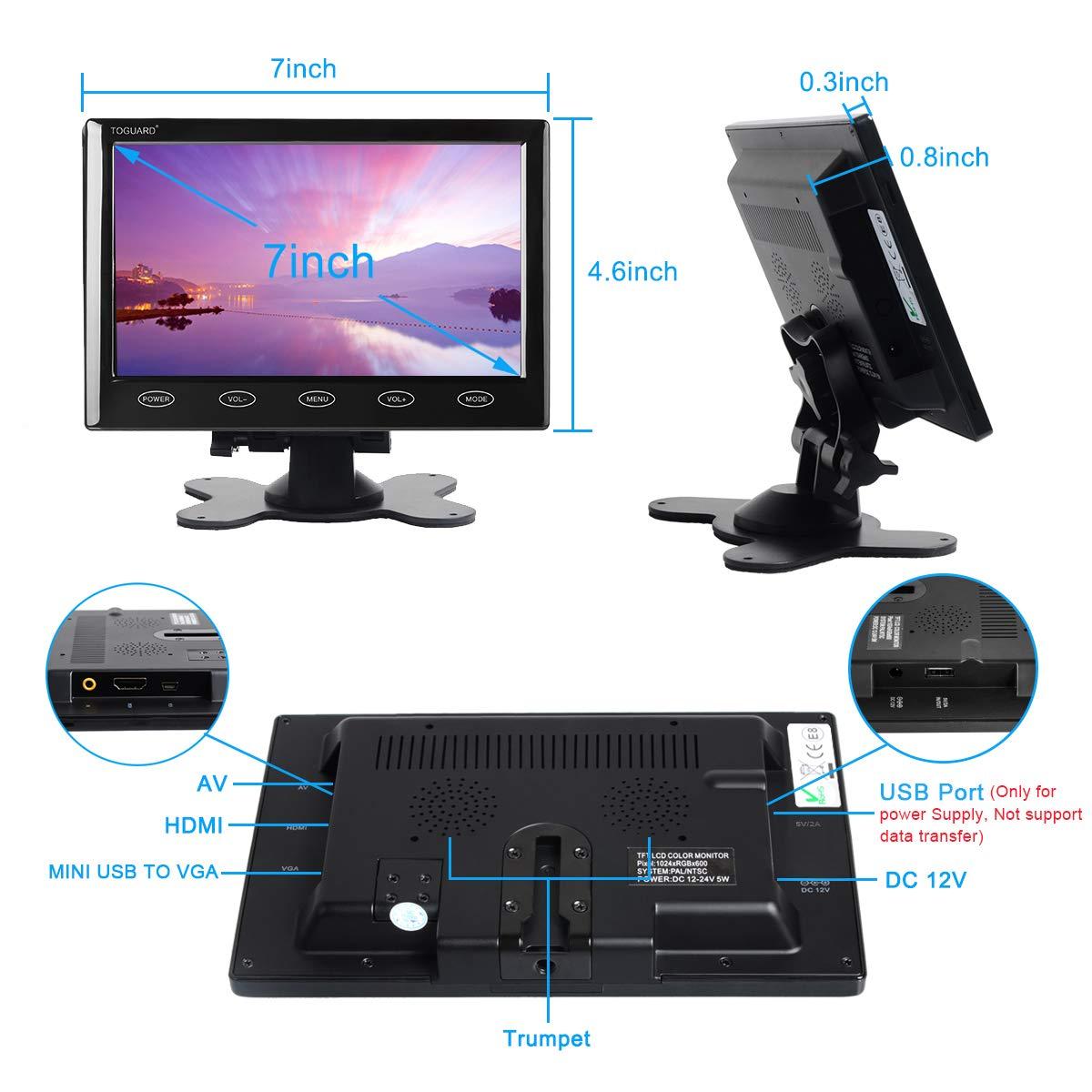 VR META 13.3/'/' DESKTOP ADJUSTABLE LCD MONITOR 12V W//WALL MOUNT