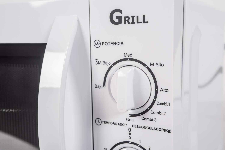Sauber - Microondas con Grill HMS03WG - 20 litros - Color Blanco ...
