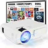 Mini Projector,SeeYing 3600Lux Portable Projector,1080P and 170'' Display Supported,Compatible with TV Stick,HDMI,VGA,USB,TV,Laptop,DVD (T5-White)
