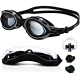Swimming Goggles - High-Definition Clear [Anti Fog] [UV Protection] [Anti Shatter] [No Leaking] Silicone Straps Quick Release Technology Triathlon Surfing Protection Case Men Women Boy by TURATA
