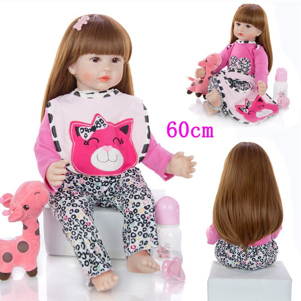 24/'/' Lifelike Reborn Baby Dolls Toddler Long Hair Pretty Girl Doll Soft Body NEW