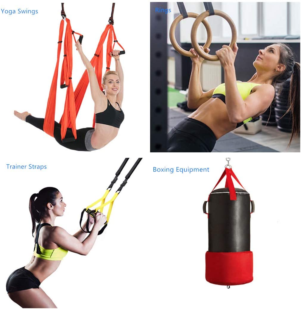 Can Hold up to 750 lb or 350 KG TSLAKEY Rope Anchor Ceiling Mount Boxing Equipment Ideal for Suspension Trainer Straps Great for Indoor and Outdoor Training Ropes Rings Yoga Swings