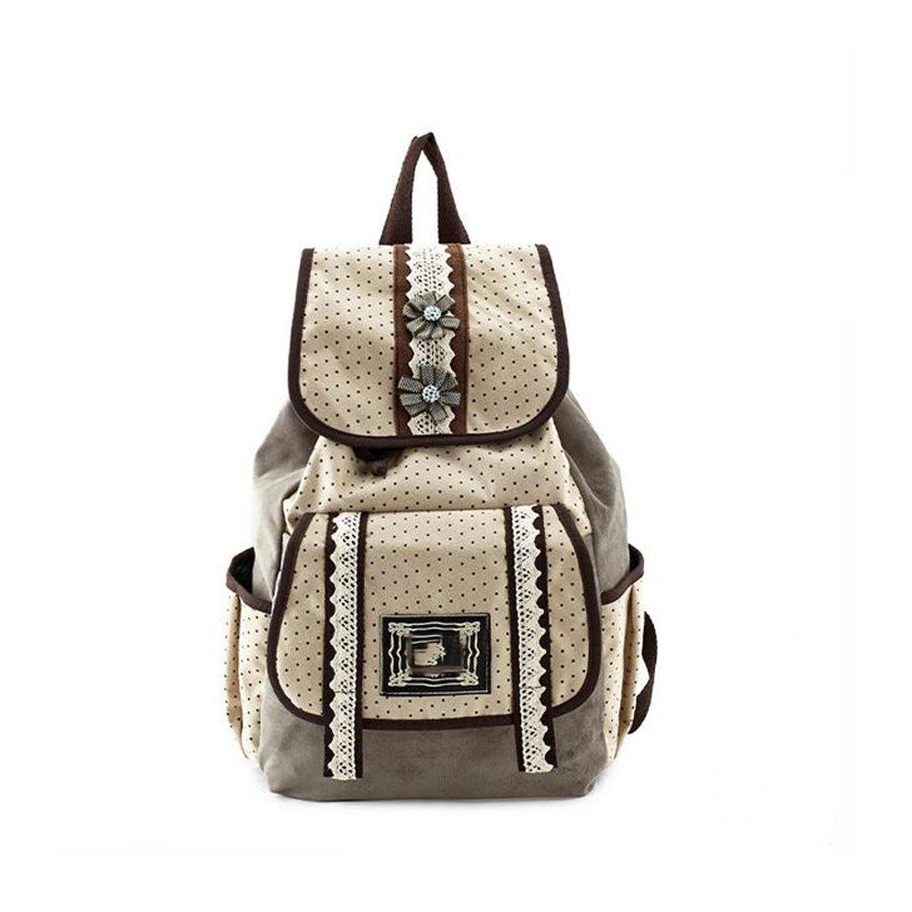 GUO -2017 el nuevo comercio exterior del bolso femenino original del recorrido de la capacidad de la manera del bolso de hombro de la lona del paquete femenino original (32  12  40CM) (marrón)