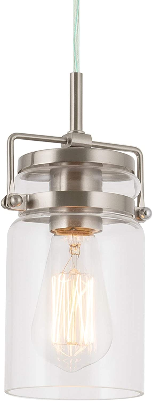 Kira Home Wyer 8″ Modern Industrial Pendant Light