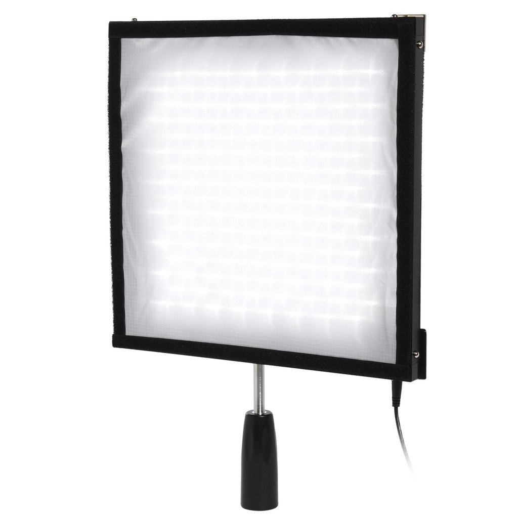 "Polaroid Flexible LED Lighting Panel with 4-Channel Remote Control – Moldable, Slim, Ultra Bright Light for Photography – 12x12"", CRI>90, 5500K, 256 LEDs, Max 4500LM PL-LEDF256"