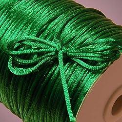 Ben Collection 2mm X 100 Yard Rattail Satin Nylon Trim Cord Chinese Knot (Emerald)
