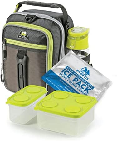black Arctic Zone High Performance Lunch Bag with Bento Container /& Ice Pack