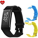 Fitness Tracker, Waterproof Smart Bracelet, Heart rate Blood pressure Sleep Health monitor, Bluetooth connection Nanlaohu Pedometer Wrist, Mobile phone compatible ios or Android Sports Watch