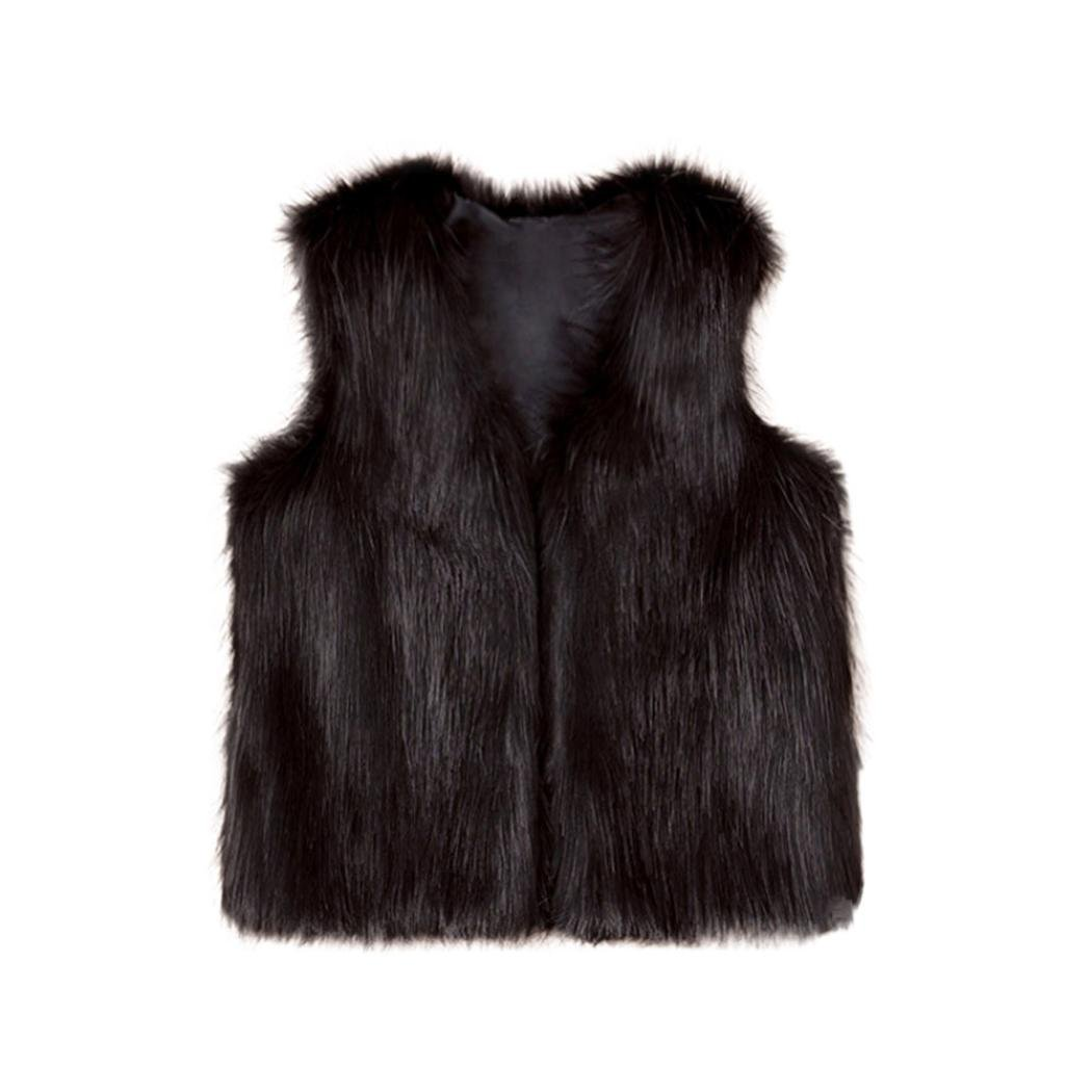 Toddler Kids Winter Waistcoat Clothes 8T Baby Girl Faux Fur Coat Thick Warm Outwear