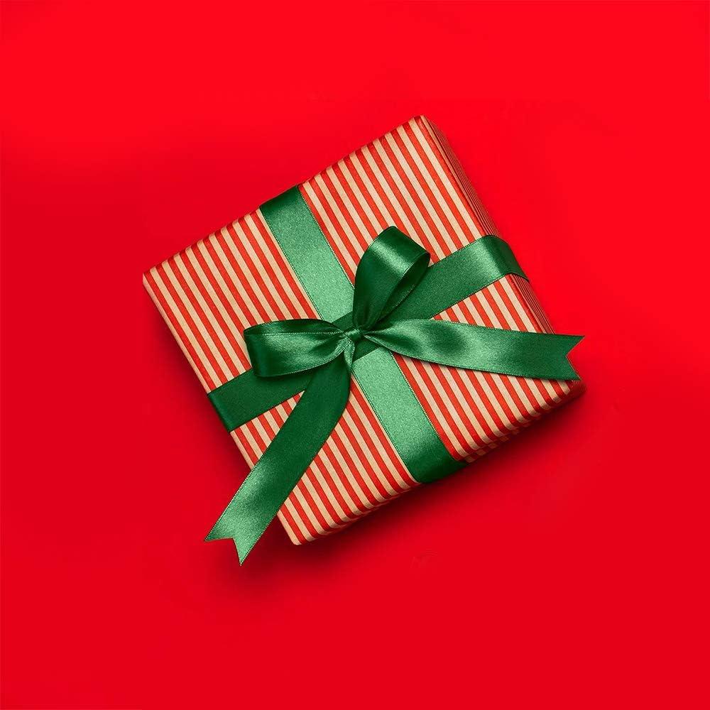 Cinta de sat/én verde de 15 mm decoraci/ón de florister/ía y Navidad 6 mm 23 m x 3 rollos cinta de sat/én verde 10 mm verde envolver regalos Bestechno para manualidades