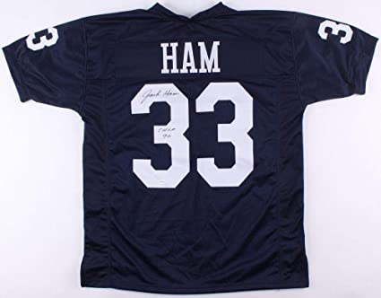 various colors b4ad1 8cf1c Jack Ham Signed Jersey TSE Penn State CHOF Inscription ...