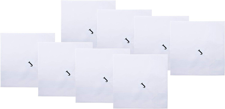 Set de pañuelos de algodón puro con iniciales, de la marca Retreez, para regalo, 8 unidades