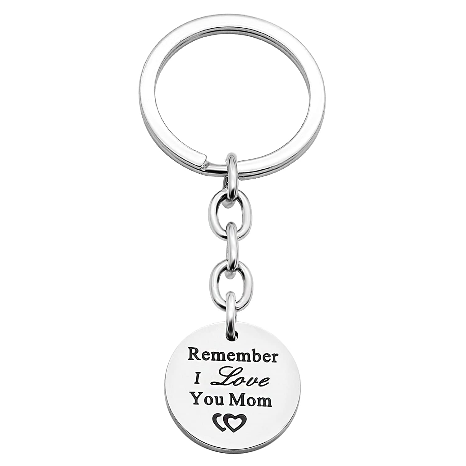 Mom Gift Key Chain Remember I Love You Mom for Family Women Stainless Steel Mothers Day Christmas lauhonmin