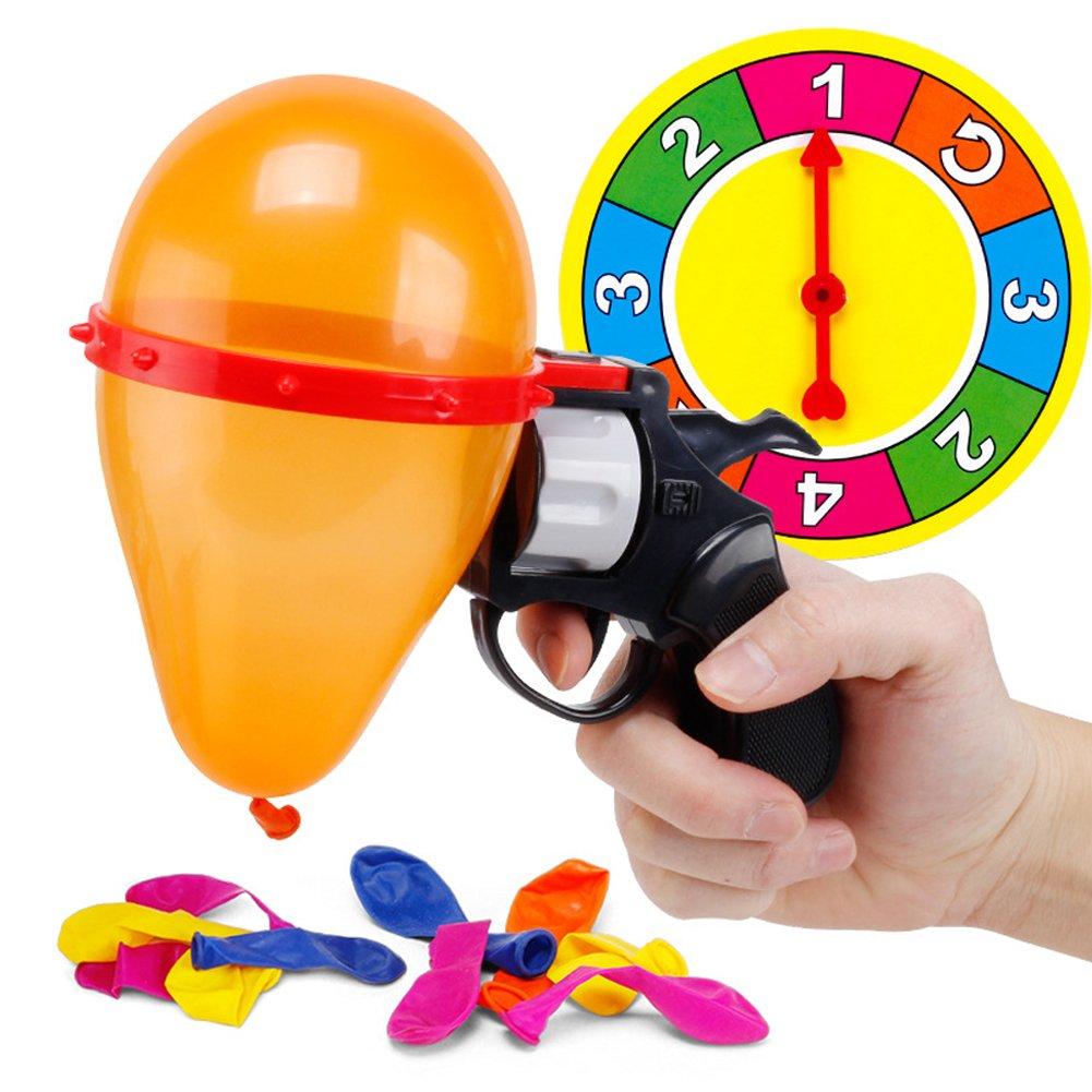 Tricky Toys Ruleta Rusa Globo Pistola Fiesta Fiesta Spoof Interactivo Juguetes para Adultos Ndier