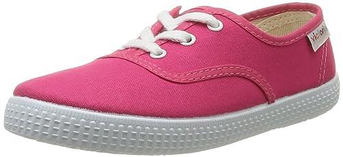 Victoria Inglesa Lona6 - Zapatillas de deporte de tela para niña Rosa Rose (Fresa) 34 PqSpX