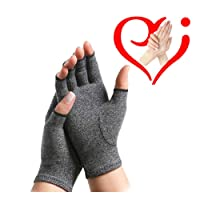 Rheumatoid Arthritis Hands Fingerless Arthritis Gloves Pain Relief Hand Support Glove Carpal Tunnel Osteoarthritis Treatment Tendonitis Therapeutic Brace Tension Alleviate Aches Raynauds M