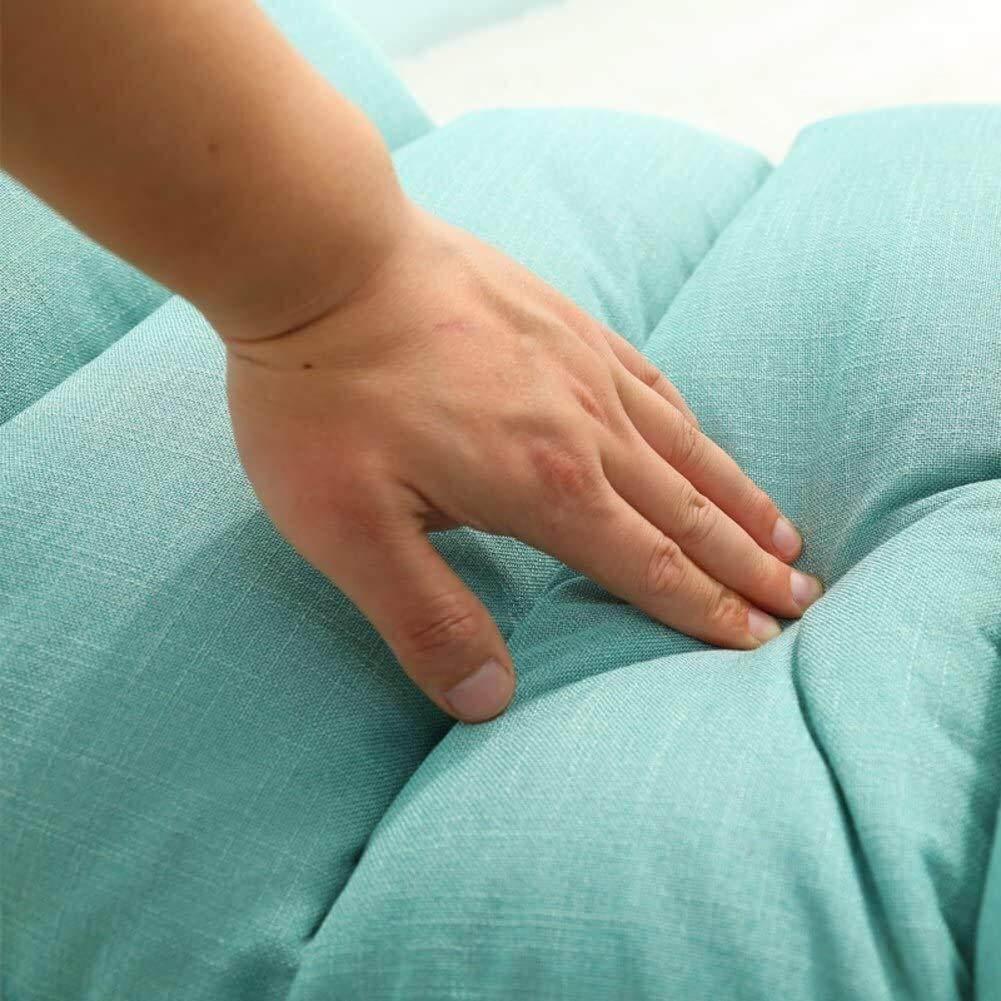 HLR Golvstol meditationsstol vikbar privat hemtextilier tatami golvstol soffa lat fällbara soffsängar vardagsrum däck fåtölj sovrum våg fönsterdyna (färg: 1) 1